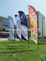 Outdoor promotional logo printing outdoor advertising feather flag