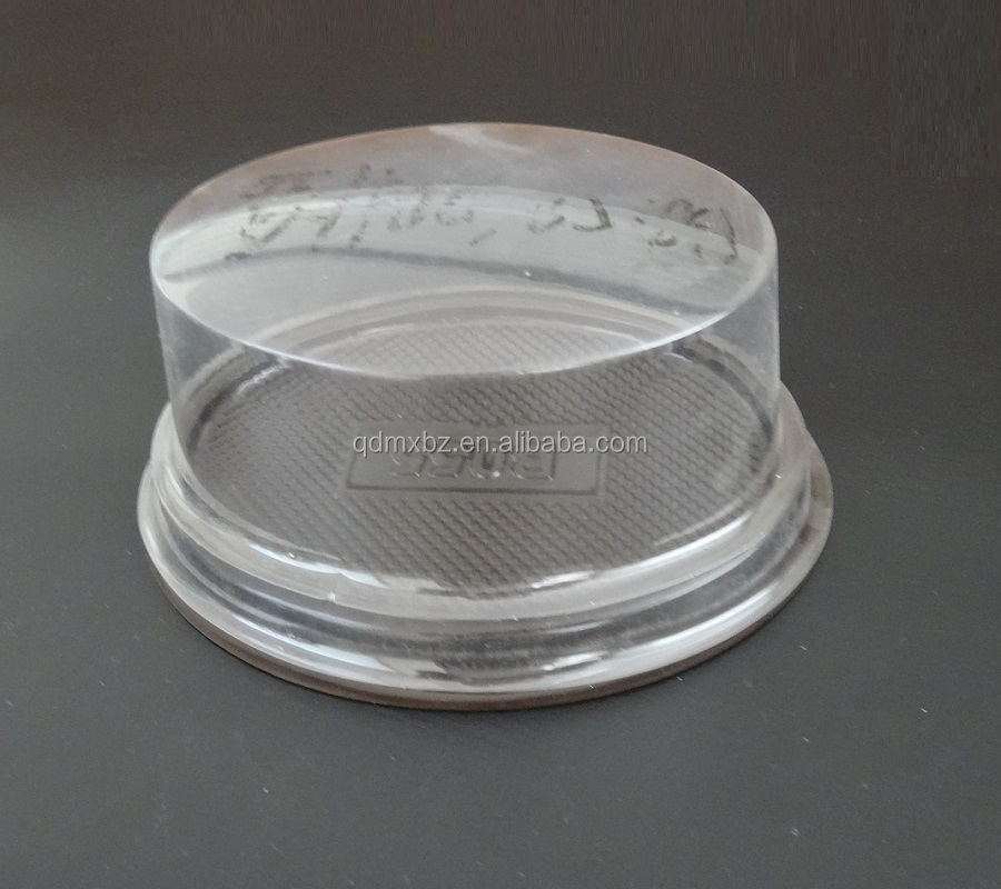 Food grade plastic cake packaging container, clear blister bread tray with lid