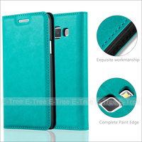 High Quality Strong Magnetic Wallet Pu Leather PC Back Case For Samsung Galaxy A3