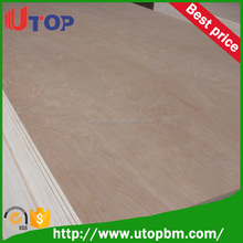 Malaysia grade 12mm Furniture used commercial plywood board with reasonable price
