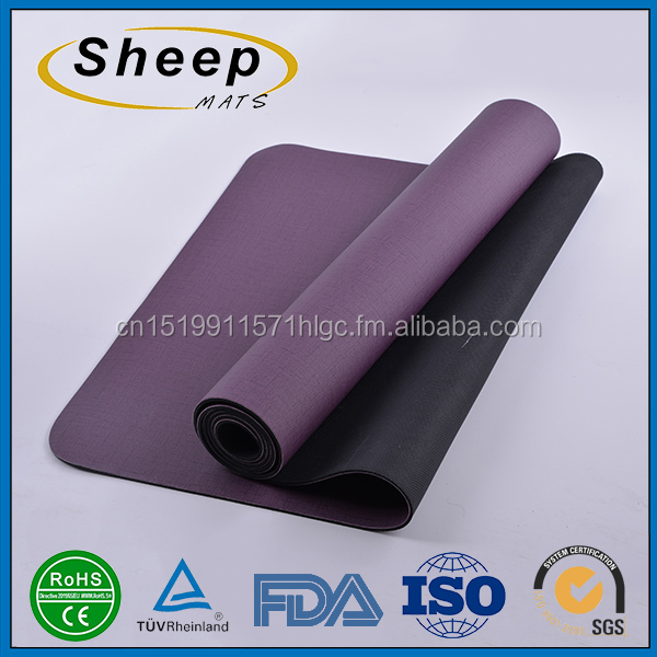 Latest design washable colorful china rubber yoga mat custom <strong>eco</strong> friendly