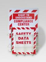 "Single of 14""w x 20""h x 4-1/2""d material safety data sheets with MSDS Binders Steel Racks"