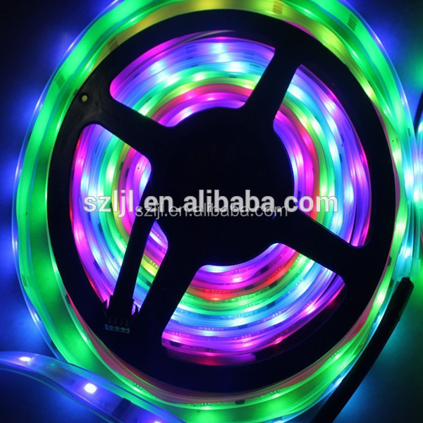 Programmed SMD5050 RGB WS2812B LED flexible strip for decoration
