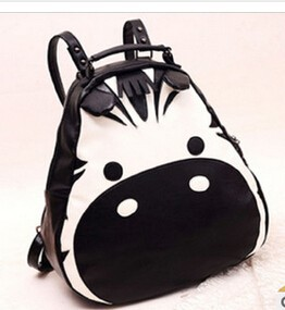 Street lady lovely zebra leather PU bag alibaba supplier china high quality girls bag