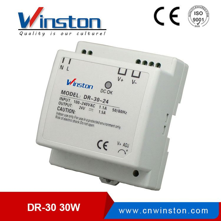 Hot Sale!! 30W single output DIN Rail power 5v 3a dc switch power supply