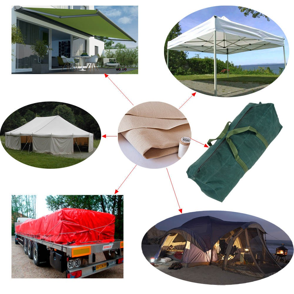 Outdoor Camping Waterproof Tent Usage Polyester Cotton Fabric for Sale