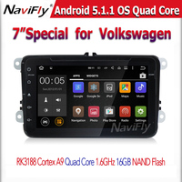 2din gps navi Android 5.1.1 car Audio Video Player for VW universal Magotan caddy passat golf tiguan jetta polo Quad core