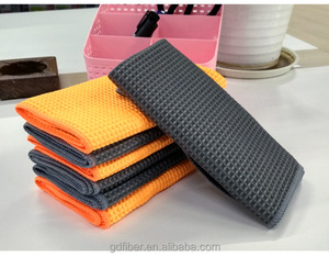 Best Car Drying Towel 2018 40*40CM High Absorbent Lint-Free Microfiber Fabric Waffle Weave Drying Towel Waffle Towel Car