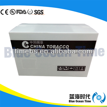 High quality corrugated plastic carton box for cigarette,packaging box