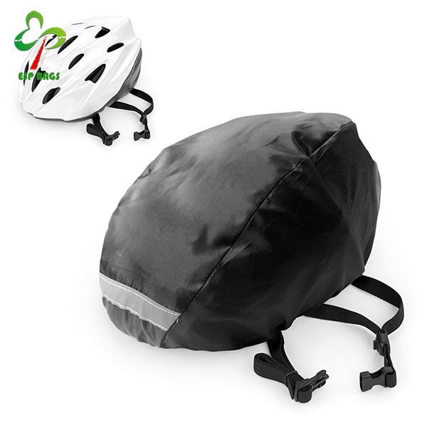 Waterproof reflective trim bicycle helmet cover, ultralight elastic edges helmet case