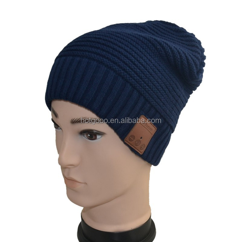 2015 Fashion knitted Bluetooth beanie hat/knitted fabric products the best/Bluetooth beanie caps for winter