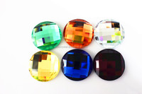 colorful round mirror crystal beads