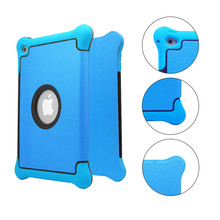 2016 New Design 3 in1 With Stand Flip Cover Hard PC+PU Leather+Silicone Shockproof Tablet Case for iPad Pro 9.7