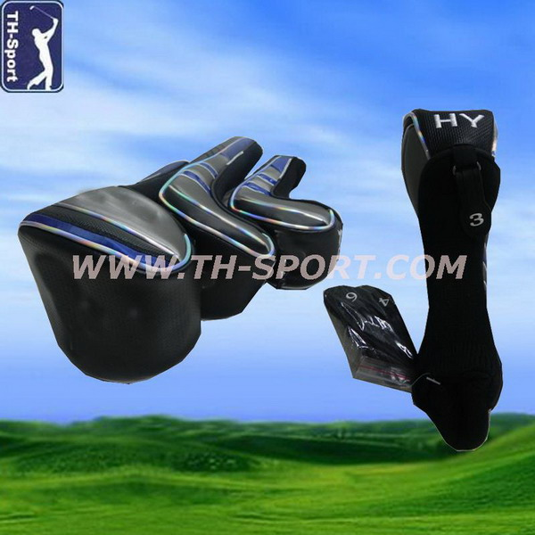 Contemporary cartoon golf putter cover in half circle shape