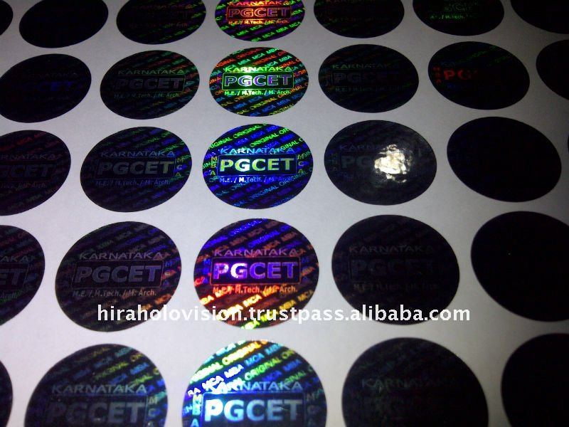 barcode hologram sticker maker