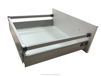 Furniture soft close kitchen drawer railing