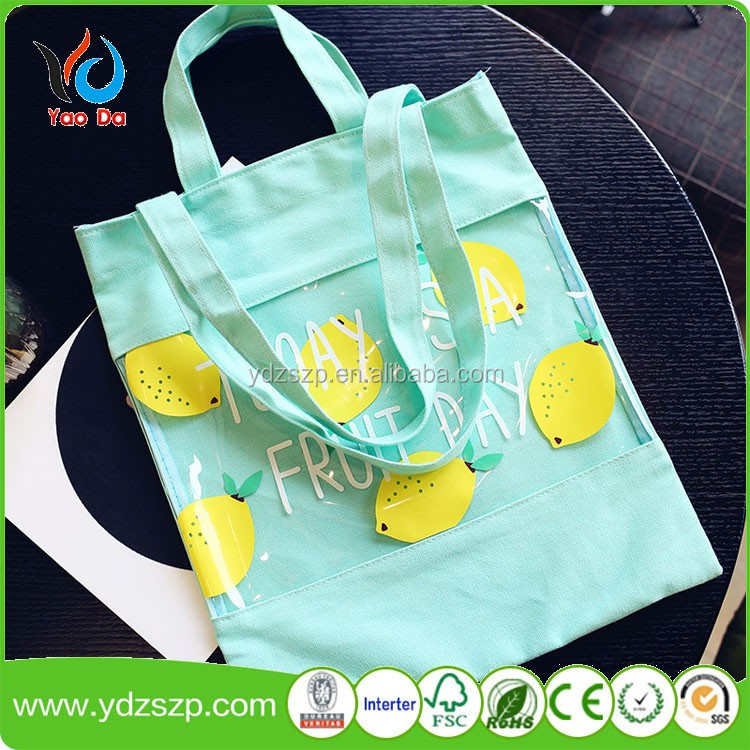 Washable Reusable Natural Cotton Canvas Grocery Shopping Cotton Craft Tote Bag