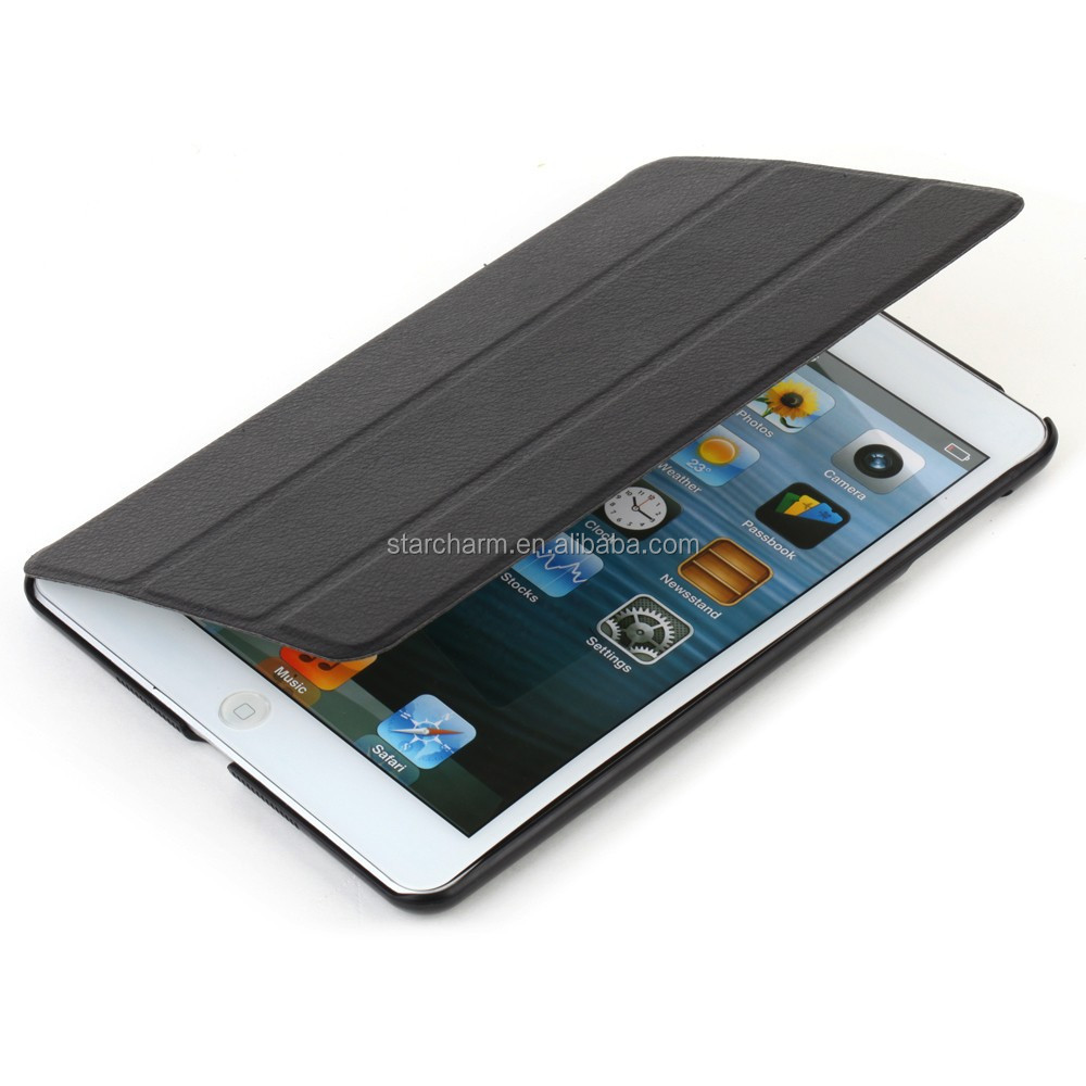 Tablet accessory leather case for ipad 4, for ipad 4 back cover housing