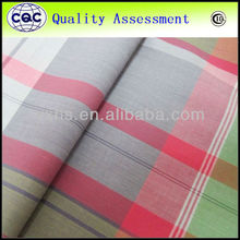 60s yarn dyed cotton fabric big checks