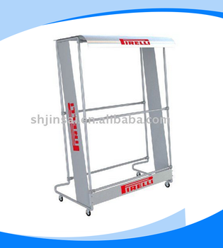 Professional Manufacturer High Grade Lower Price Double Pirelli Tire Metal Display Rack