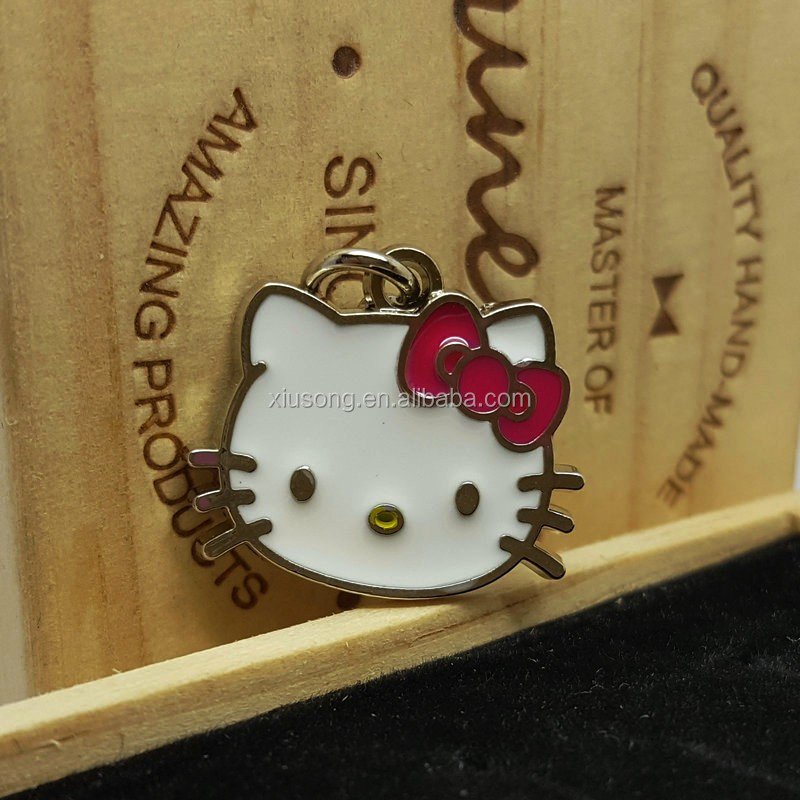DS2016-31metal fashion cat shape small custom metal jewelry tags