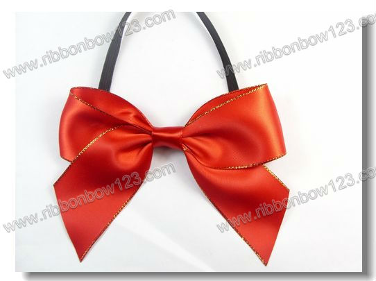 elastic gift cord bow