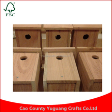 NEW HANDMADE 5/8 CEDAR 6 BIRD WOOD HOUSE