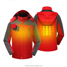 Softshell Fleece Electric Battery Heated Mens Womens usb Heating Ski Jacket for Winter