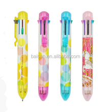 Multifunction 8 color push action ball pen promotional ball pen advertising ball pen