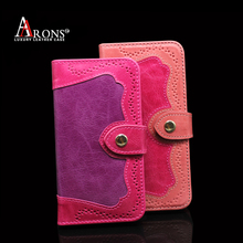 Aaron Flip book case premium cowhide leather mobile phone case for iphone5s/SE