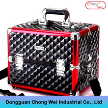 Aluminum Rolling Makeup Cosmetic Train Case,Trolley Case