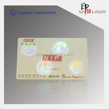 Customized Hologram Coupons Printing with Security Hologram Printing