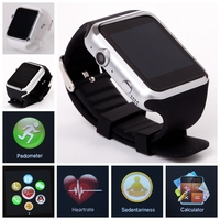 2015 new-design smart watch with heart rate sensor, pedometer, temperature ,Anti-lost Alarm