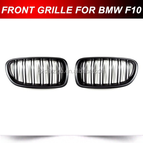 Matte Black Front Kidney Grille for BMW F10 Car Grills Auto Accessories