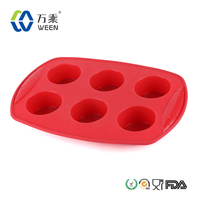 6 cups mini silicone baking molds