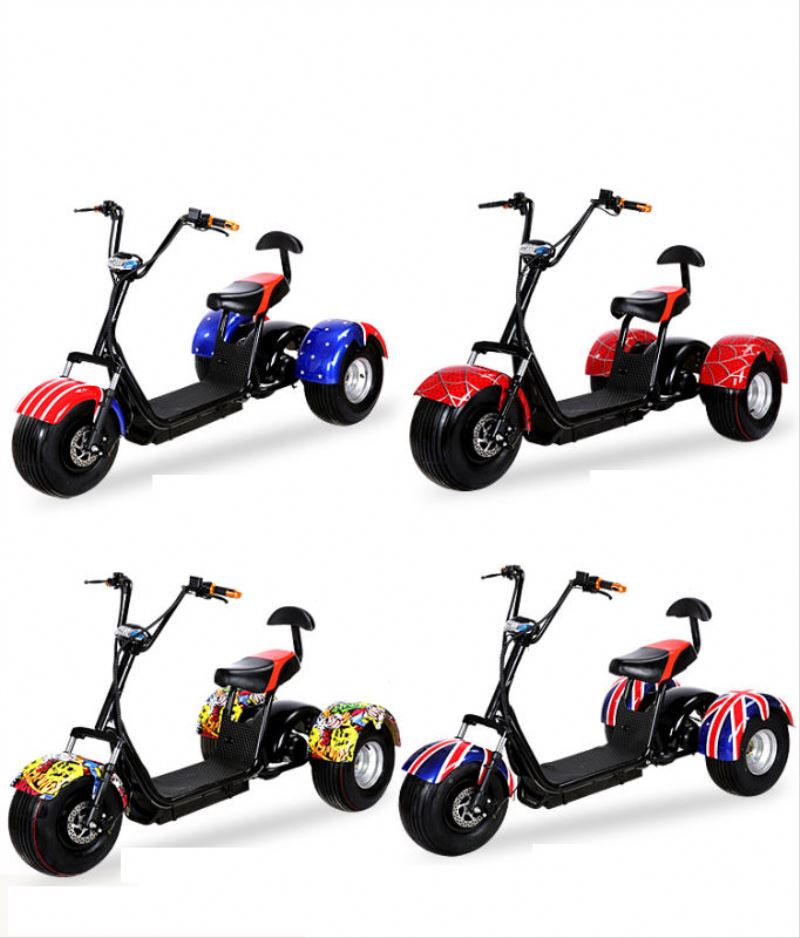 2017 citycoco 3 wheels 200km off road 3 wheel motorized tricycle with CE