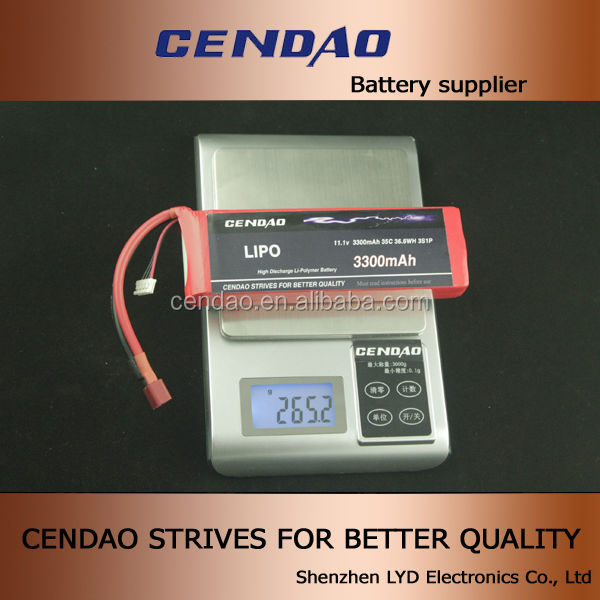 cendao excellent quality battery 11.1v 35c discharging 3S1P 3300mah for samsung galaxy s4 lipo battery case