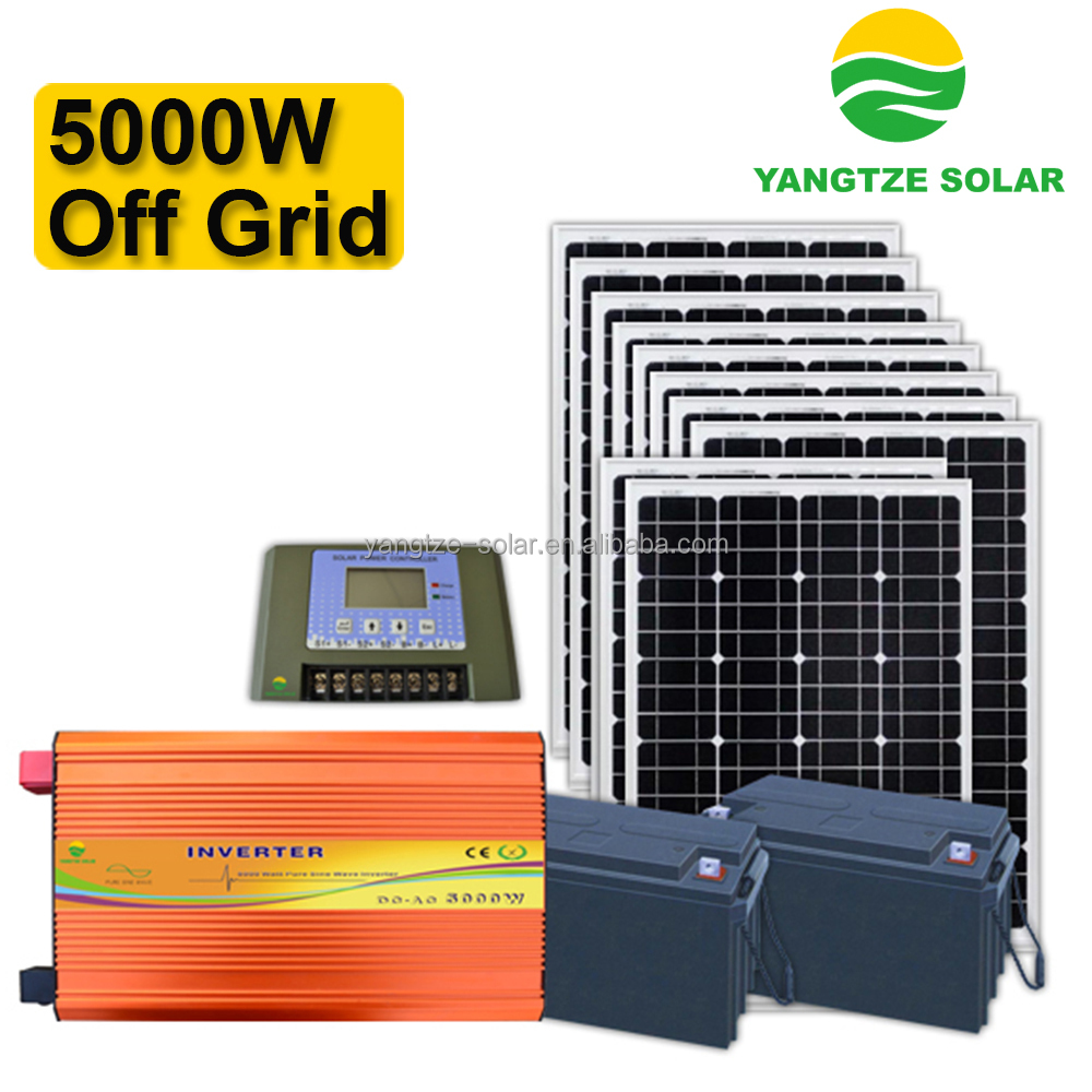 5kw stand alone off grid solar panel system
