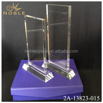 Cheap Crystal Square Glass Trophy Blanks for Anniversary Souvenirs