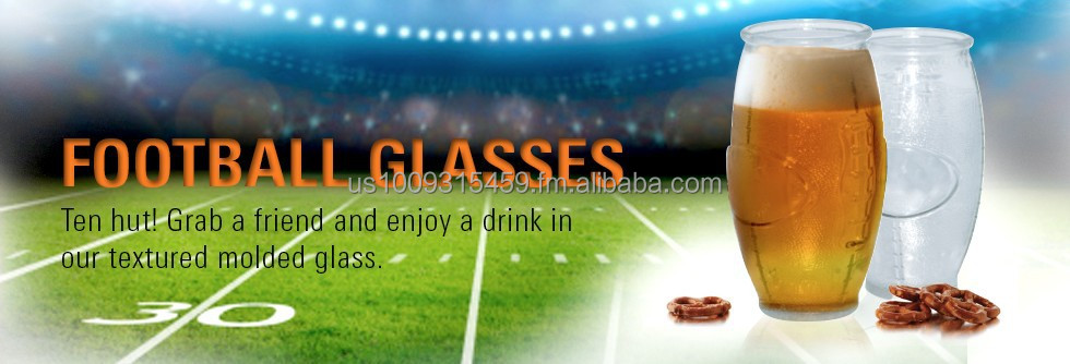 Football Shaped and Textured Glass Tumbler