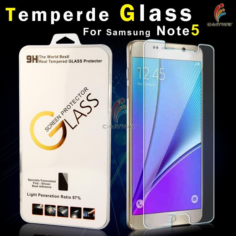 Colorful 2.5D Curved edge 9H Clear gold tempered glass screen protector for Samsung galaxy s5 i9600 oem/odm (Glass Shield)