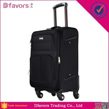 Manufacture price stylish fabric luggage cabin size wheeled trolley luggage 360 free spinner luggage in stock