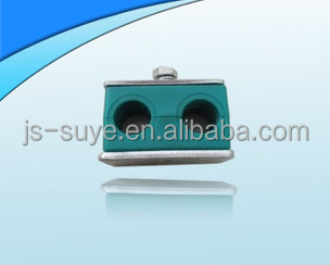 high quality double hose pipe clamp , china supplier