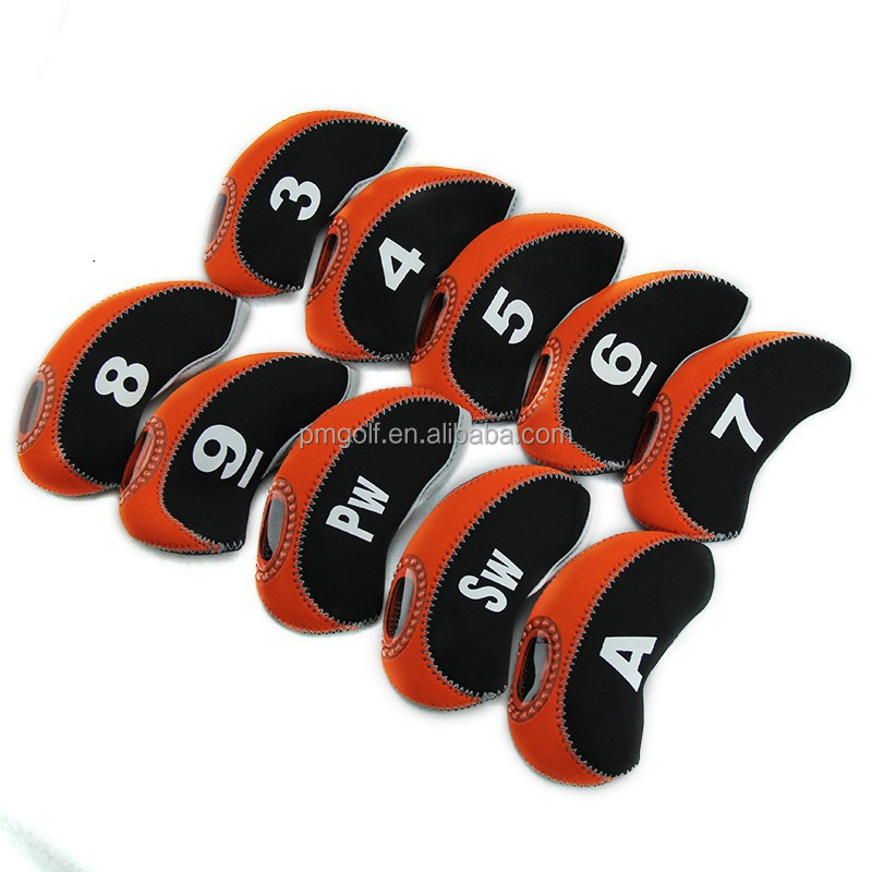 high quality & best price neoprene golf iron cover set 10pcs iron club cover on sale