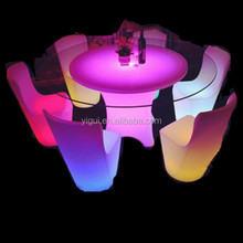 high quality lighting Marble or glass home bar table and chairs for home or bar use