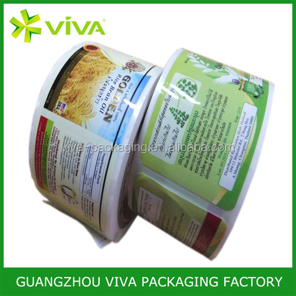 customized food product label sticker on roll, cheap adhesive roll sticker printing