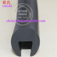 EPDM solid rubber u channel seal