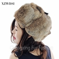 CX-C-26B factory directly wholesale price new custom rabbit fur women winter fashion hats