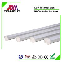 Aluminum housing 1500mm 50W tri-proof led light for car parking
