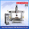 cnc woodworking machinery price with 5 axis, boat mould 5 axis cnc router